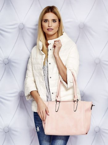Torba shopper bag jasnoróżowa