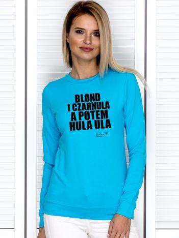 Turkusowa bluza damska BLOND I CZARNULA by Markus P