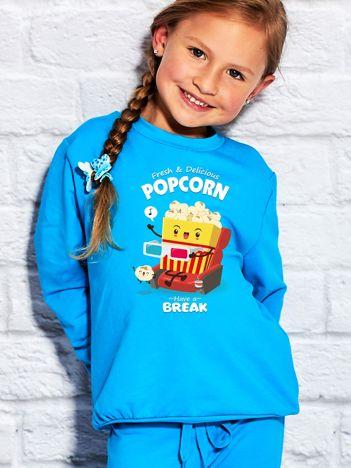 Turkusowa bluza dziecięca POPCORN