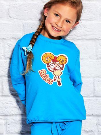 Turkusowa bluza dziecięca znak zodiaku BARAN