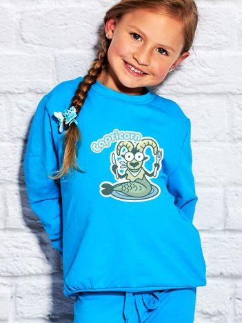 Turkusowa bluza dziecięca znak zodiaku KOZIOROŻEC