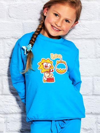 Turkusowa bluza dziecięca znak zodiaku LEW