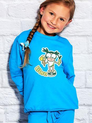 Turkusowa bluza dziecięca znak zodiaku WAGA