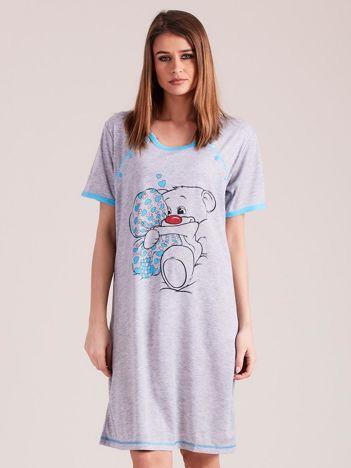 Turkusowa koszula nocna z bawełny