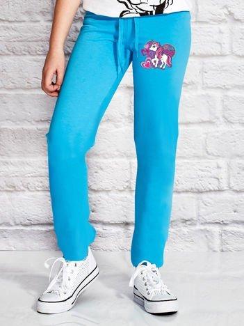 Turkusowe spodnie dresowe dla dziewczynki LITTLE PONY