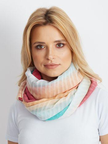 Turkusowo-różowa chusta ombre