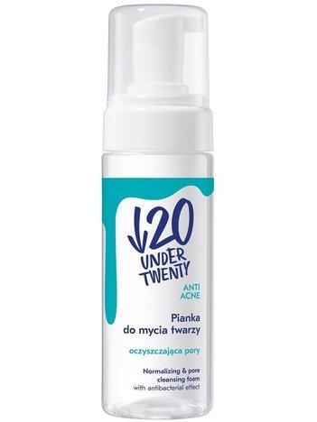Under Twenty Wygładzająca pianka myjąca o działaniu antybakteryjnym z kwasem migdałowym 1% 150 ml