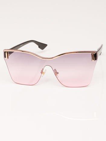 VICS Okulary przeciwsłoneczne damskie czarne szkło liliowo-szare