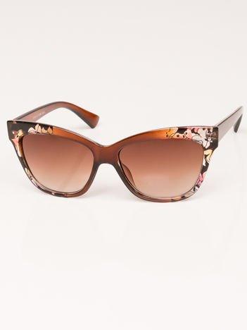 VIP LIFE Okulary przeciwsłoneczne damskie brązowe multicolor szkło brązowe dymione