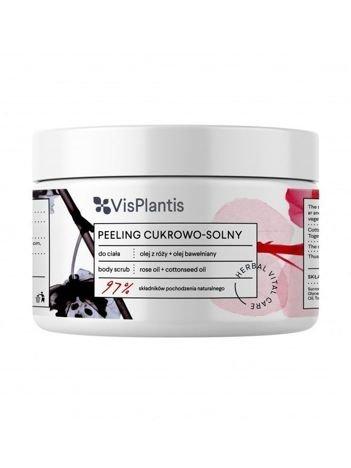 Vis Plantis Herbal Vital Care Peeling cukrowo-solny do ciała Olej z Róży + Olej Bawełniany 200 ml