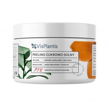 Vis Plantis Herbal Vital Care Peeling cukrowo-solny do ciała Yerba Mate + Olej Monoi 200 ml