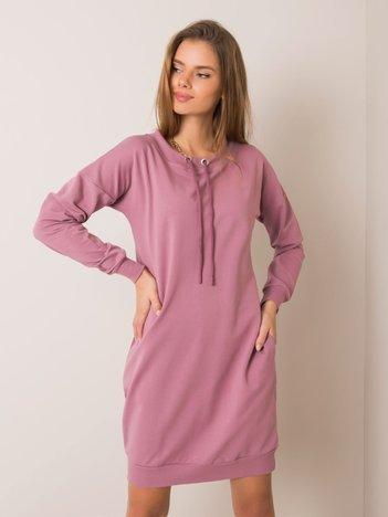 Wrzosowa sukienka Nessa RUE PARIS