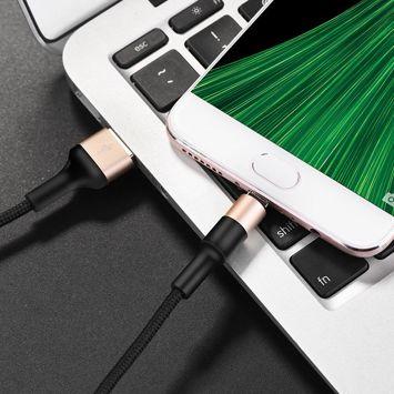 X26 Kabel Micro-USB Xpress w oplocie nylonowym oraz obudową ze stopu aluminium 9V 2A Szybke ładowanie Kolor złoto-czarny