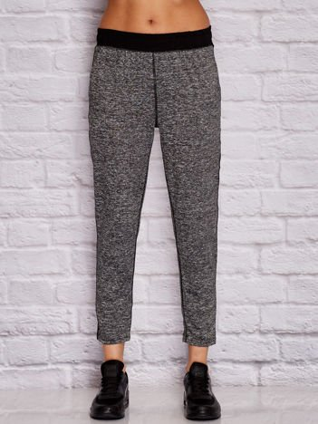 YUPS melanżowe spodnie dresowe szare