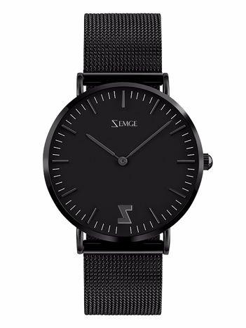 ZEMGE Zegarek damski czarny na bransolecie typu MESH Eleganckie pudełko prezentowe w komplecie