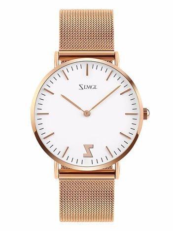ZEMGE Zegarek damski złoty na bransolecie typu MESH Eleganckie pudełko prezentowe w komplecie