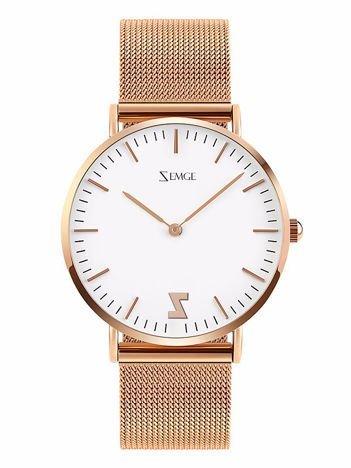 ZEMGE Zegarek unisex złoty na bransolecie typu MESH Eleganckie pudełko prezentowe w komplecie