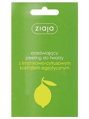 ZIAJA Peeling do twarzy i ciała z limonkowo-cytrusowym koktajlem egzotycznym 7 ml