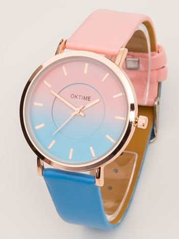 Zegarek damski OMBRE różowo - niebieski