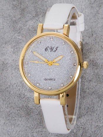 Zegarek damski glitter biały
