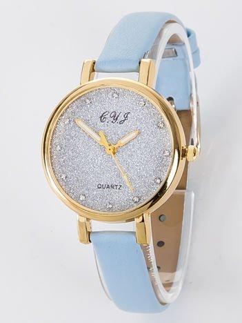 Zegarek damski glitter błękitny