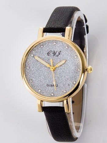 Zegarek damski glitter czarny