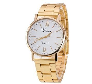 Zegarek damski złoty klasyczny na bransolecie
