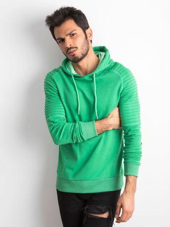 Zielona bawełniana bluza męska