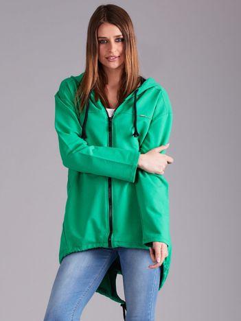 Zielona bawełniana bluza z kapturem