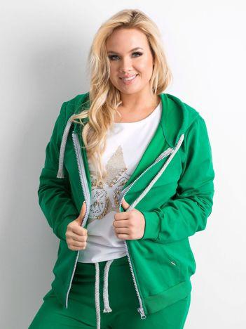 Zielona bluza z kapturem PLUS SIZE