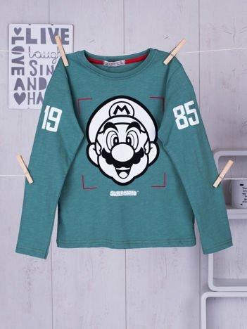 Zielona bluzka dziecięca Super Mario Bros