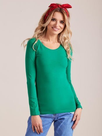 Zielona bluzka z długim rękawem