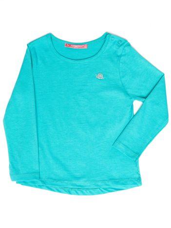 Zielona gładka bluzka dziewczęca
