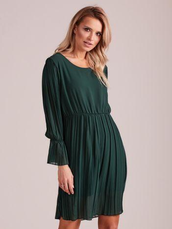 Zielona plisowana sukienka