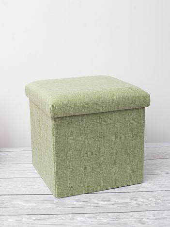 Zielona pufa z pojemnikiem