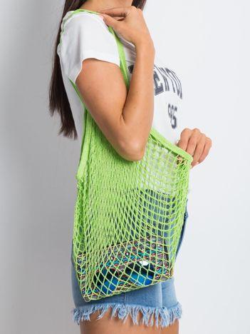 Zielona siatkowa torba