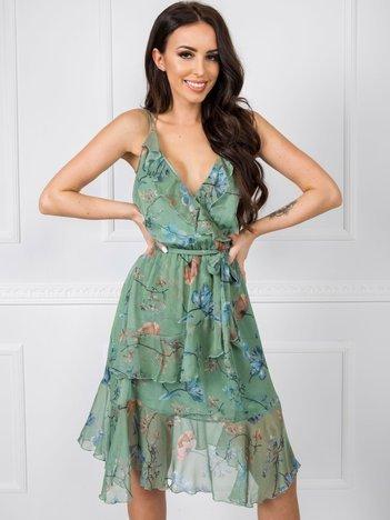 Zielona sukienka Spring RUE PARIS
