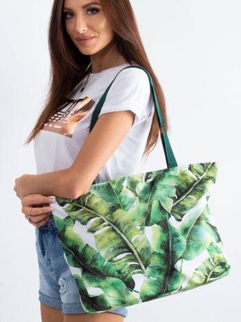 Zielona torba w liście