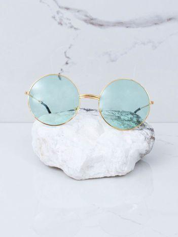 Zielone okulary hippie