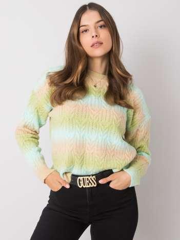 Zielono-beżowy sweter Zenaida RUE PARIS