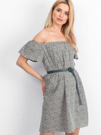 Zielono-biała sukienka Cassis