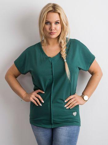 Zielony t-shirt PLUS SIZE