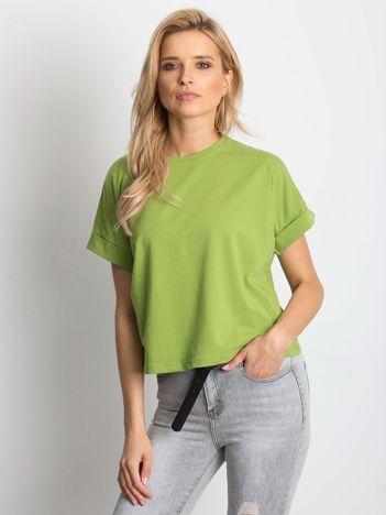 Zielony t-shirt Woodland