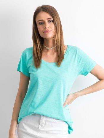 Zielony t-shirt damski basic