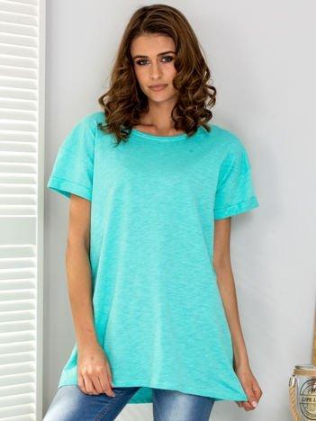 Zielony t-shirt oversize