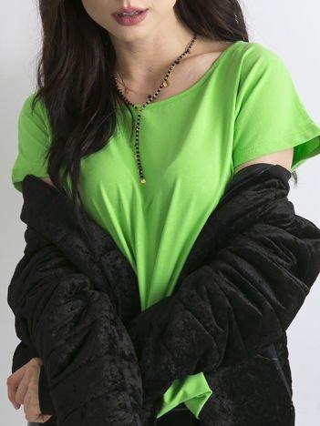 Zielony t-shirt z bawełny
