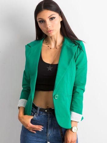 Zielony żakiet z bawełny
