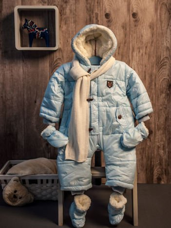 Zimowy kombinezon dla dziecka błękitny
