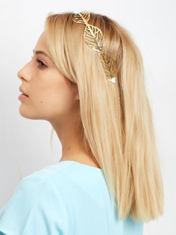 Złota opaska na głowę