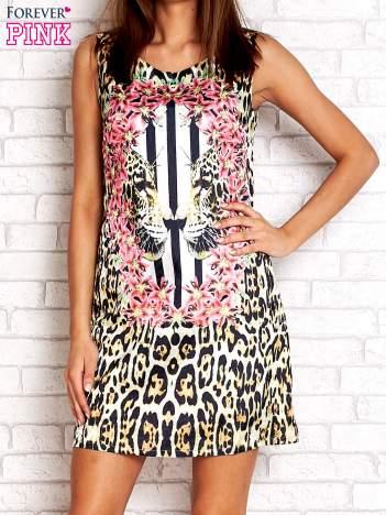 Złota sukienka z motywem pantery